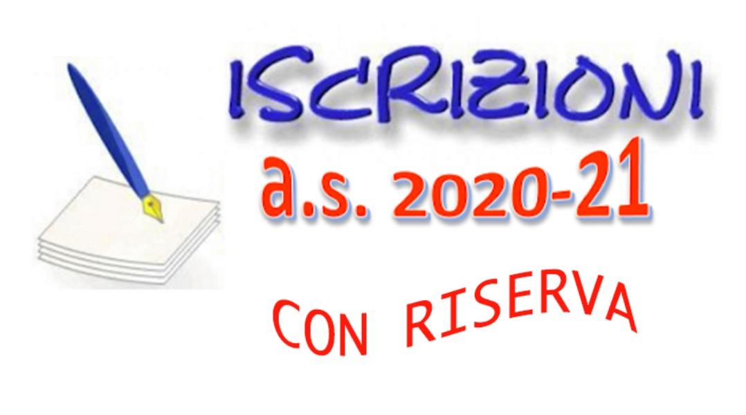 Iscrizioni da altro istituto  a.s. 2020/2021 CON RISERVA